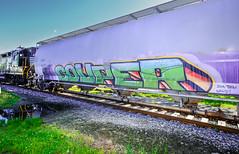Color on the Rails (BrilliantBill) Tags: mtephraim mtephraimnj railroad rails railroadtracks benching graffiti railgraffiti color fujicolor fujifilm fuji fujixt10 zeiss zeiss12mm southjersey