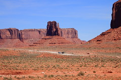 West Mitten Rock Formation - Monument Valley Tribal Park, Northern Arizona (danjdavis) Tags: monumenrtvalley monumentvalleytribalpark arizona rockformation westmitten desertlandscape