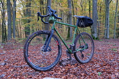Soma Wolverine - First Ride (hans.hirsch) Tags: soma wolverine monstercross 40 type b with cinq touring fork carradice saddlebag acepac maxxis shimano sram aspen xx grx dt swiss xr 361 bike gravel cycle bycicle bici biciclette velo wald forest bosco