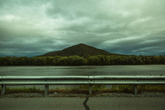 65mph (Jennifer MacNeill) Tags: road pa guardrail driving mountain susquehanna river water driveby