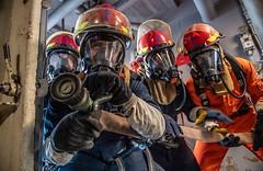 191109-N-HD110-1298 (U.S. Pacific Fleet) Tags: usnavy unitedstatesnavy ussharpersferry forgedbythesea sailors lsd49 amphibiousdocklandingship lsd harpersferryclass underway ussboxeramphibiousreadygroup arg us7thfleet deployment damagecontroltrainingexercise pacificocean