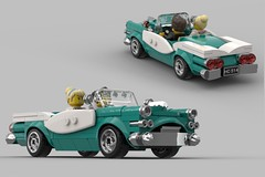 Aedelsten deluxe (skallesplitter) Tags: lego vintage retro diner 50s 60s legoideas legocar classiccar minifigscale minifigurescale convertible