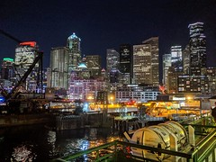 City at Night (Seattle Department of Transportation) Tags: sdot seattledepartmentoftransportation water ferry night lights buildings seattle transportation waterfront skyline