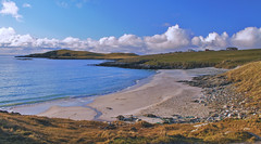 Beach in the November Sun (johnny_9956) Tags: november scotland sunshine beach sand sea water canon 7d uk shetland outdoor outside seascape landscape
