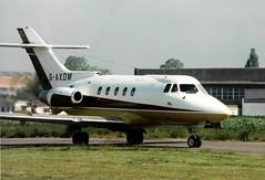 Photo of G-AXDM HS.125 Series 403B cn 25194 BAe Systems Avionics Ltd Cranfield 04Jun91