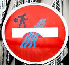 By Clet [Paris 17e] (biphop) Tags: europe france paris streetart fake roadsign clet abraham