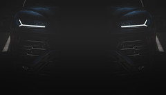 The debate is over. (catrall) Tags: austria österreich steiermark styria nikon d750 fx art 2019 spielberg zeltweg racer racing rennen sport sports action asphalt black grey white car speedway raceway race course track circuit boxengasse line sigma lens 24105 october lamborghini lamborghiniurus urus headlights headlight
