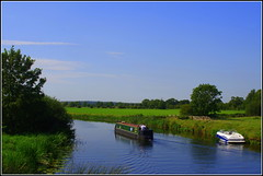 Cajun Moon (Lotsapix) Tags: northamptonshire oundle fotheringhay canal river nene rivernene water boat narrowboat countryside landscape scenery scene