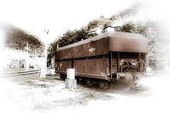 Sooo alone... (vale0065) Tags: orange oranje roest roestig rust rusty oxidatie oxidation oxidated old train trein track rail railroad railway spoorweg spoor spoorbaan slovenia slovenië zidanimost wagon boxcar transport transportation vervoer vervoersmiddel cargo freighttrain goederentrein