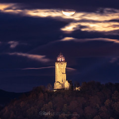 Beaver - 12 Nov 2019 - 47 (iBriphoto) Tags: nightsky november nightphotography wallacemonument reflection stirling fullmoon beavermoon riverforth night clouds