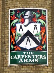 Carpenters Arms, Hoxton (Draopsnai) Tags: carpentersarms pub pubsign expub lostpub coatofarms bridportplace hoxton