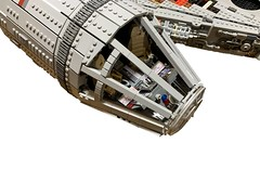 Millennium Falcon WIP MOC; cockpit in place, needs greebles along top. 1;20 scale (OneToTwenty) Tags: cocpit lego moc falcon millennium millenniumfalcon starwars