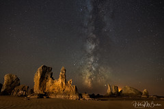 Seastacks and the stars (Hilary Bralove) Tags: milkyway oregon oregoncoast nightphotography astrophotography stars nikon nature seascape seastacks pacificnorthwest