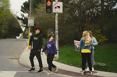 (Džesika Devic) Tags: toronto street photographer photography kodak contax g2 drive by kids teenagers boys girls