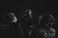 Coach Dave (Robbie Khan) Tags: borough club football footy gbfc gosport hampshire phaseone soccer training bnw blackandwhite bw coach instructor moody mood night 35mm canonphoto canon5dmk3