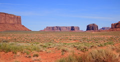 Desert Landscape - Monument Valley Tribal Park, Northern Arizona (danjdavis) Tags: monumenrtvalley monumentvalleytribalpark arizona desert landscape desertlandscape