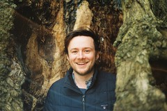My brother, Peter (davidpaulconnell) Tags: portrait nikonf3 50mmf18 portra800 kew gardens tree 35mm