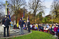 The Act Of Remembrance, Bloxwich 10/11/2019 (Gary S. Crutchley) Tags: remembrance service bloxwich cenotaph army navy air force raf parade civic ceremony great war world one 1 i two ii 2 poppy poppies armistice fallen veterans uk britain england united kingdom urban town townscape walsall walsallflickr walsallweb black country blackcountry staffordshire west midlands westmidlands nikon d800 history heritage local raw nikkor afs 28300mm f3556g ed vr colour color