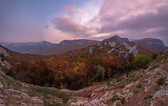 Autumn Tyshlar (gubanov77) Tags: crimea panorama nature autumn october tyshlar tyshlarrocks mountains sunrise sky clouds dawn morning travelphotography travel tourism nationalgeographic ilyaskaya laspi landscape
