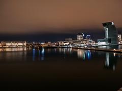 Oslo by night (Theberoys, Øystein) Tags: night oslo opera lambda munch museum panasonic panasonicg9 m43 mft norway city cityscape reflection water