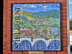 Mosaic art downtown Shelburne Falls, MA (Jane Lazarz Nature Photography) Tags: walkingnewengland janelazarz massachusetts fallinengland nikonp900 nikon new massachusettsautumn autumn newenglandcountryside westernmassachusetts nikonnature autumninnewengland shelburnefallsma mosaic