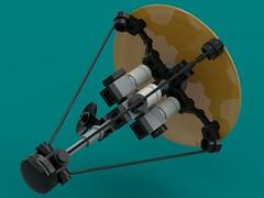 Astara Borealis (The Hydromancer) Tags: lego micro fi sci sailer solar probe ship space orbit intercept zero frame mobile