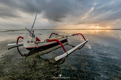 Sunrise in Sanur (www.ownwayphotography.com) Tags: colorful boat sunrise sanur bali indonesia sea water watet