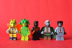 Spider-Bat-Vember Part 3 (th_squirrel) Tags: lego dc marvel comics spiderbatvember superheroes shockmoth poison nightdevil silver demon black hammer shocker killer moth ivy scorpion nightwing daredevil silvermane ras al ghul mask hammerhead