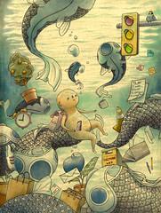 Anonymous Protagonists Navigate Imagined Worlds in Multi-Layered Illustrations by Felicia Chiao (Lisa Poor) Tags: art artspotlight arte artesanato artgallery artist artistic artistsoninstagram artofinstagram artoftheday arts artsy artwork makeupartist nailart