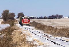 Prairie Winds (Seven Tracks Photography) Tags: wind drift snowdrift plow blol bloomer bloomerline cropsey illinois anchor risk blol7591 gp10 snow train railroad il outdoor photography locomotive