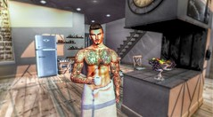 """' Good Morning """" (maka_kagesl) Tags: secondlife sl game virtual videogame videogames gaming games photography portrait photo picture pose pic posing avatar avi coffee morning kitchen"""