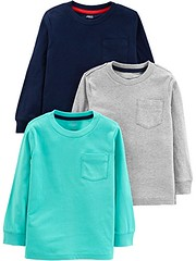 Simple Joys by Carter's Toddler Boys' 3-Pack Solid Pocket Long-Sleeve Tee Shirts (Shopping Guide 7) Tags: 3pack by carters joys longsleeve pocket shirts simple solid tee toddler