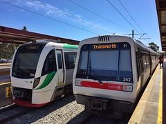 B Series vs A Series (sander_sloots) Tags: train series perth trains transperth midlans station treinen aseries bombardier openbaar vervoer public transport