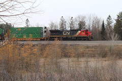 Highballing at Murry (view2share) Tags: ge cn2130 dash8 c408 cn canadiannational cold murry superiorsub northwoods northwood northernwisconsin northwesternwisconsin wi wisconsin fall autumn november82019 november2019 november 2019 stacks stacktrain doublestack mainline westbound northbound midwest intermodal deansauvola railway railroading rr railroads rail rails railroad railroaders rring rrcar rural track trains transportation train tracks transport trackage trees freight freighttrain freightcar freightcars