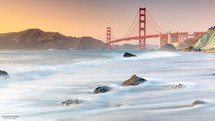 Marshall's Beach, San Francisco (nagarajan_kanna) Tags: beach bridge goldengatebridge goldenhour pacificcoast sanfrancisco