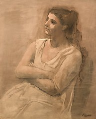 1923, Pablo Picasso, Woman in WHite (R.M.Lenox) Tags: pablopicasso spanish metropolitanmuseumofart painting museum photograph highresolution accuratecolor