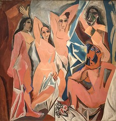 1907, Pablo Picasso, Les Demoiselles d'Avignon (R.M.Lenox) Tags: pablopicasso spanish museumofmodernart moma accuratecolor highresolution painting museum chronology timeline