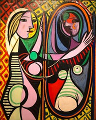 1932, Pablo Picasso, Girl before a Mirror (R.M.Lenox) Tags: pablopicasso spanish museumofmodernart moma accuratecolor highresolution painting museum chronology timeline