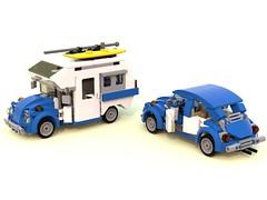 beetle camper WIP MOC (barneysharman) Tags: vw beetle minihome 1300 camper lego moc splitscreen bug dub campervan bus