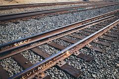 JROK and friends (dogwelder) Tags: downtown graffiti losangeles rails rocks tagging traintracks