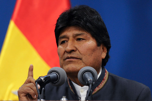 Democratically elected Evo Morales overthrown in a U.S. and OAS backed coup in 2019.
