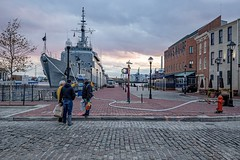No. 96 - 37°F in Fell's Point (Emmanuel Z. Karabetis) Tags: 1635mm f40 baltimore fells point bmore md maryland thames st street south broadway brittanys daily cobble stone cobblestone canon 6d brasil brazil u27 navy naval training ship frigate pier hdr high dynamic range