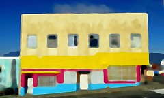 The colorful house (losy) Tags: house multicolors yellow magenta turquois losyphotography