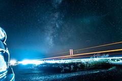 Warp Speed (MuchoLucho) Tags: tamron tamron2875f28diiiirxd sony alpha a7iii fullframe astro milkyway night longexposure nightsky mirrorless newmexico arizona southwest nature skyscape nightscape honda car scifi laser lighttrail