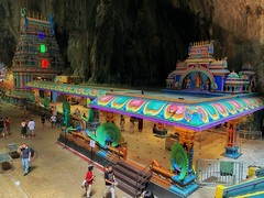 Batu Caves (kate willmer) Tags: temple colours statue carving building architecture people caves batucaves kualalumpur malasia