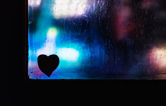 Я&Я (Sarah Rausch) Tags: windowwednesday window heart bokeh neon silhoutte hww sony 50mm 18 depth dof