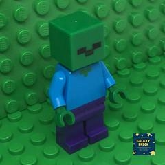 LEGO Zombie Minifigure (galaxybrick) Tags: lego legominifigures legominecraft minecraft zombie
