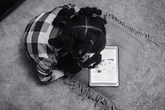 they love those iPads.. (Ken Loves Film..) Tags: inexplore explored portrait child ipad monochrome blackandwhite 6d