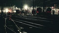 trains at night (Sat Sue) Tags: olympus micro four thirds m43 penf japan fukuoka station railway railroad