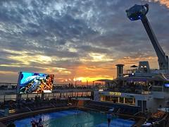 Pool Deck At Night[EXPLORED] (DaveFlker) Tags: cruise ship ovationoftheseas sunset north star pool deck